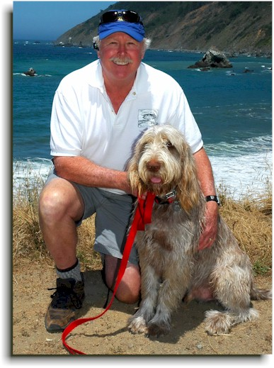 Dan Blanton and dog, Fisher