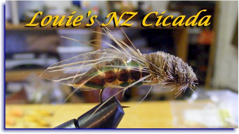Louie S Nz Cicada Tying Instructions Dan Blanton 187 Fly Fishing Resources