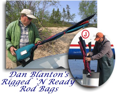 Dan blanton s rigged n ready rod bags dan blanton fly for Rigged fishing backpack